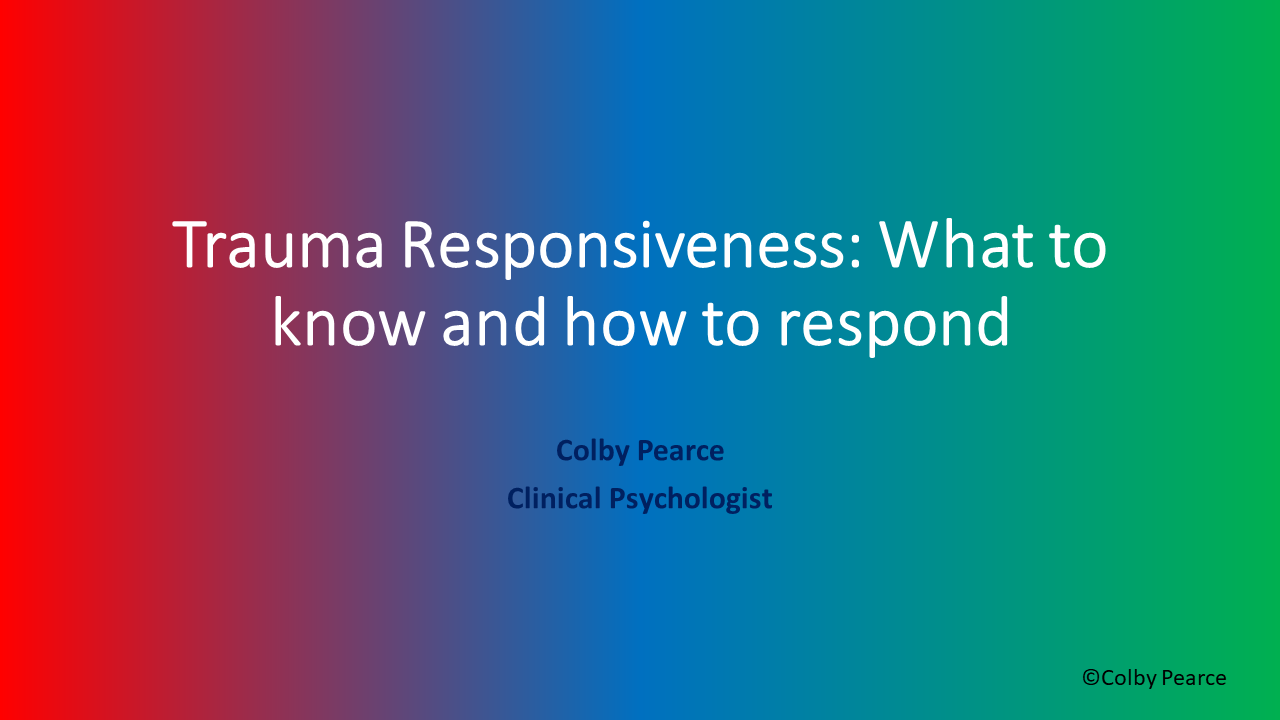 Organisational Trauma Responsiveness Training