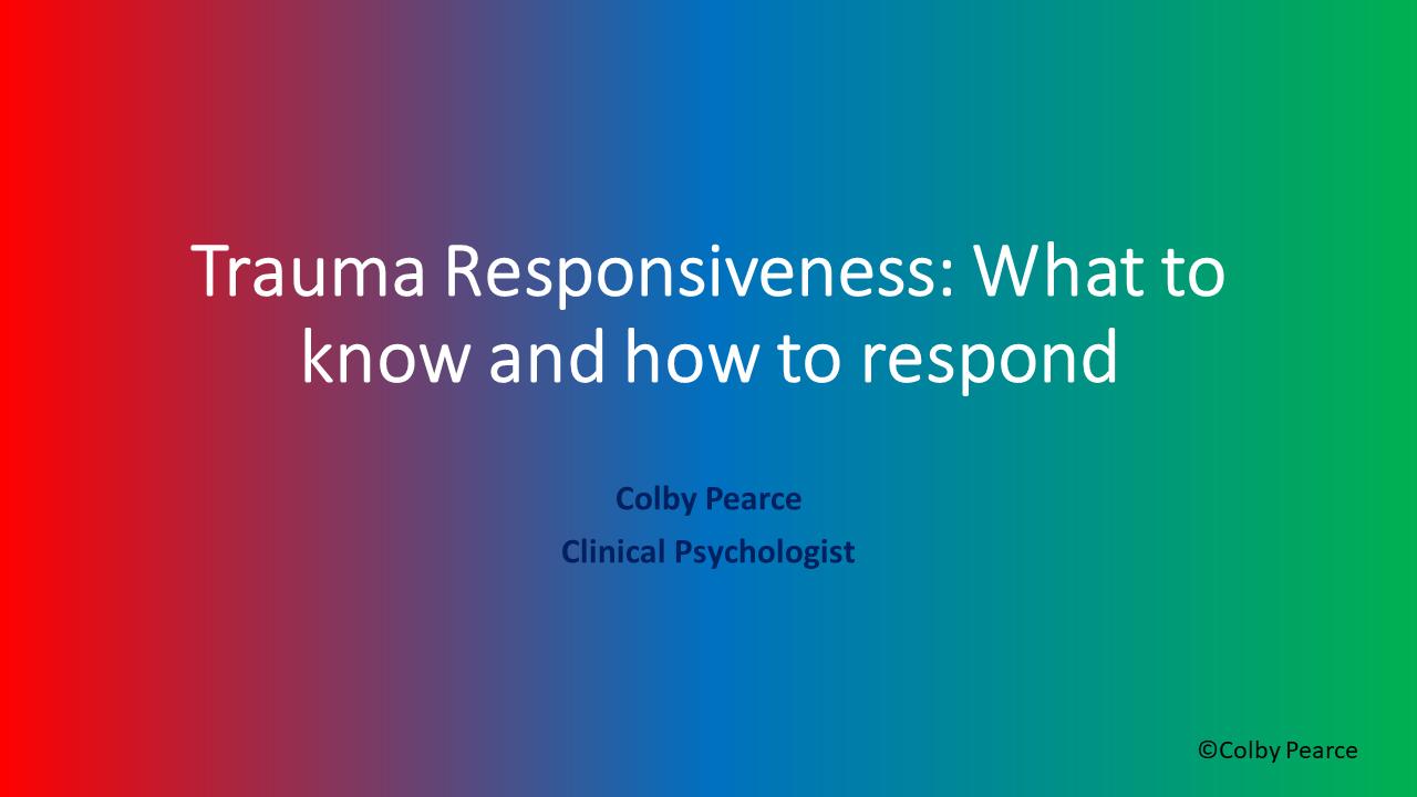 Organisational Trauma Responsiveness Training